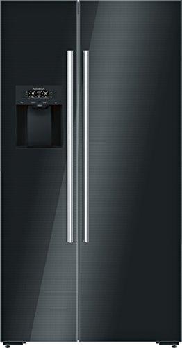 Siemens KA92DSB30 Home Connect iQ700 Side-by-Side / A++ / 175,6 cm Höhe / 348 kWh/Jahr / 368 L Kühlteil / 173 L Gefrierteil / Wasserspender / Easy Access Ablagen / schwarz