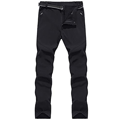 31Ve7ILyc7L. SS500  - LY4U Men's Outdoor Winter Hiking Camping Hunting Climbing Trousers Water-resistant Soft Shell Fleece Lined Thicken Warm Wear-resisting Pants