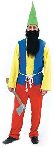 Herren Schneewittchen and The 7 Sieben Zwerge Wichtel Zwerg Märchen Kostüm Kleid Outfit - Föhlich, Einheitsgröße, One Size (Schneewittchen Zwerge Kostüme)