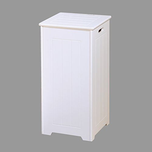 white laundry bin