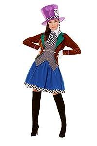 Smiffys 47784L Miss Hatter - Disfraz de mujer para mujer, multicolor, talla L
