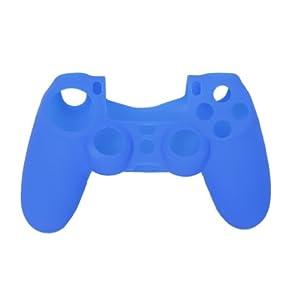 SODIAL(R) Schutzhuelle Silikon Huelle Case Cover Gehaeuse Blau fuer PS4 Controller