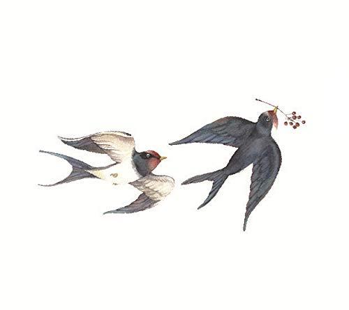 Wasserdicht Selbstklebend Temporäre Tätowierung Sexy Baby Flower Birds Gun bei Wassertransfer Fake Flash Tattoo Army Green (Jungen Halloween-make-up Für Army)