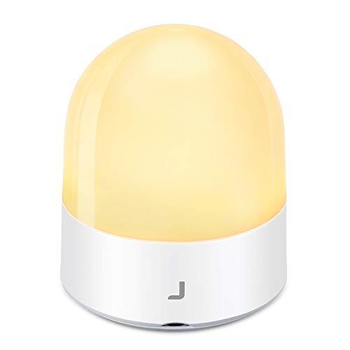 JSVER Nachtlicht Kind Baby, Nachttischlampe Touch Dimmbar Wiederaufladbare LED Nachtlampe USB mit Timer-Einstellung einstellbare Helligkeit und Warm für Schlafzimmer Baby, Kinder