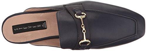 STEVEN by Steve Madden Womens Razzi-l Slip-On Loafer navy leather