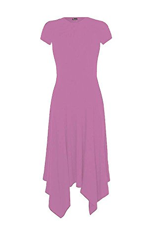 Generic Damen Kleid Kleid, Einfarbig * Rose Pink