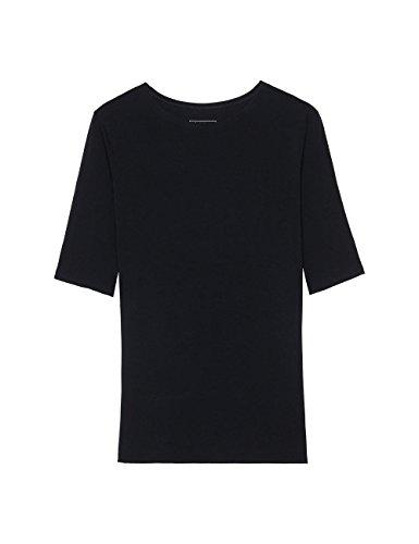 Intimissimi Damen Kurzarm-T-Shirt mit Rundhalsausschnitt aus Modal Schwarz - 019