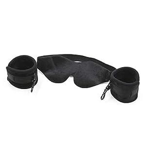 BESTOYARD Einstellbare Handschellen Knöchel Armbänder SM Bondage Fetisch Augenbinde Bett Fesseln Erwachsene Sex Toys für Paare