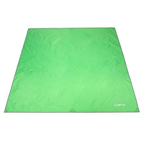 Azarxis Zelt Plane Planen Markise Hängematte Baldachin Footprint Boden Blatt Regen Fly Shelter Schatten Decke Matte Sonnenschirm Wasserdicht Heavy Duty (Hellgrün, L - 94,5 x 86,6 Zoll) - L Schatten