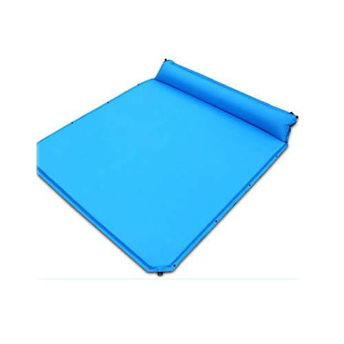 YLL Aufblasbares Bett Eindickung Außen Folding Camping tragbare Matratze Startseite Matratze Schaum Schlafenauflage 3 bis 4 Personen (Farbe : Blau) -