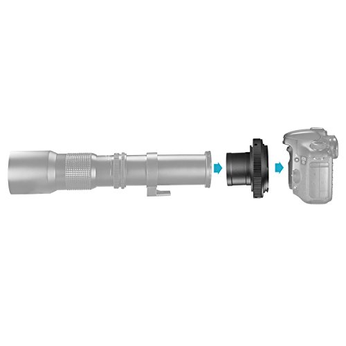 Neewer T2-EOS 1.25 pulgadas Adaptador telescopio anillo
