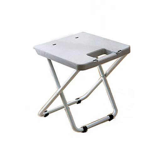 Chaises pliantes en Plein air Conduite Autonome Plage Pique-Nique Train Portable Tabouret Pliant Pieds de Fer Pieds en Plastique Petit Banc