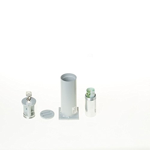 Bodentresor, Rohrtresor Carl 100, 1 Geldbombe, HxBxT 161x63x63 mm, Profilhalbzylinder, Grau