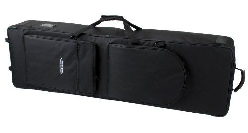Classic Cantabile Keyboardtasche mit Rollen 115cm schwarz (robuster Gigbag, Innenmaße, 115 x 45 x 15 cm, doppelt gesponnenes und verwebtes Nylongewebe, verklettbarer Tragegriff, 2 große Außentaschen)