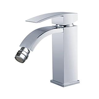 DP Bath Acacia - Single lever bidet mixer tap, silver
