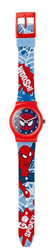 Spiderman SPM73 - Reloj para niño con mecanismo de cuarzo, esfera analógica y correa de plástico...