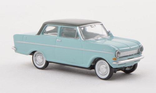 Opel Kadett A, hell-blau/dkl.-grau , Modellauto, Fertigmodell, Brekina Drummer 1:87