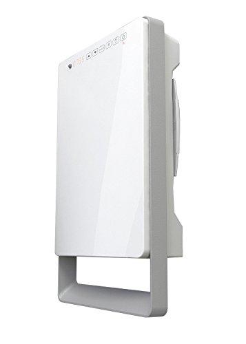 Termoventilatore digitale a parete TOUCH, con barra portasalviette (Grigio Perla)