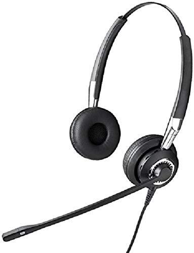 Jabra BIZ 2400 II QD Duo langlebiges Call-Center-Kabel-Headset mit Geräuschunterdrückung und Wideband für Festnetztelefonie - Binaural Headset-system