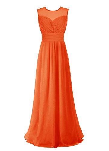 Find Dress Robe de Cérémonie Femme pour Mariage Style Unique Robe de Cocktail Mousseline Rétro Vintage Grande Taille Orange