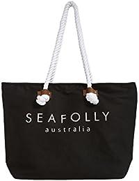 Sac de plage Seafolly Ship Sail Tote Noir