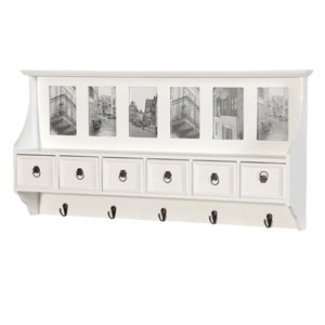 Shabby and Chic White Wood Belgravia Coat Rack and Frames