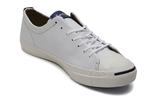 Converse Jack Purcell Leather Ox Uomo Sneaker Bianco Weiß