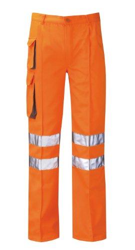 Paroh Hercules Pcrtctl Zesus - Pantaloni da lavoro Cargo ad alta visibilità, taglio regolare, taglia 50, colore: Arancione