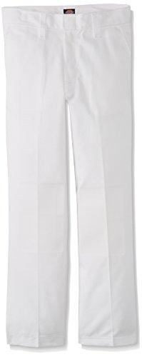 Dickies-56-562-del-nio-plana-Frente-Pant-Tallas-8-20-18-White
