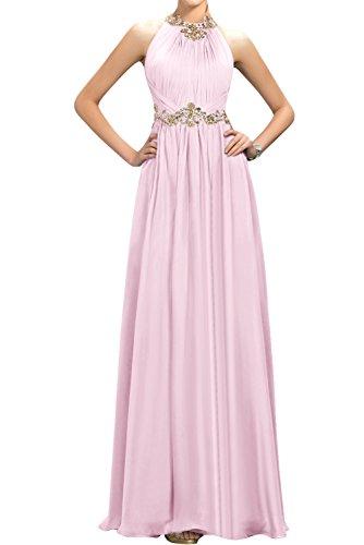 Gorgeous Bride Fashion A-Linie Lang Chiffon Abendkleider Cocktailkleid Ballkleider Rosa
