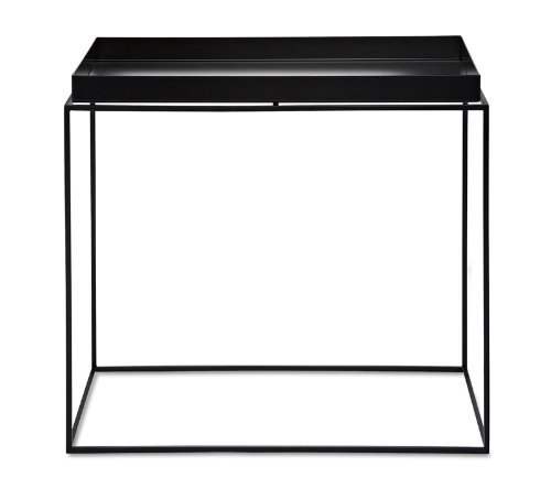 HAY tray table table basse-medium-noir, métal laqué, table d'appoint