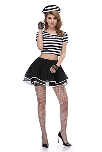 Weibliche Gefangene Kleid Kostüm - PIN Halloween Kostüme Frauen Cosplay Uniform