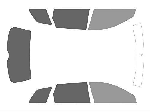 Preisvergleich Produktbild Varianz Auto getönte Displayschutzfolien für Auto Komplettset,  vor Schwarz 35 - Rückseite Schwarz 20