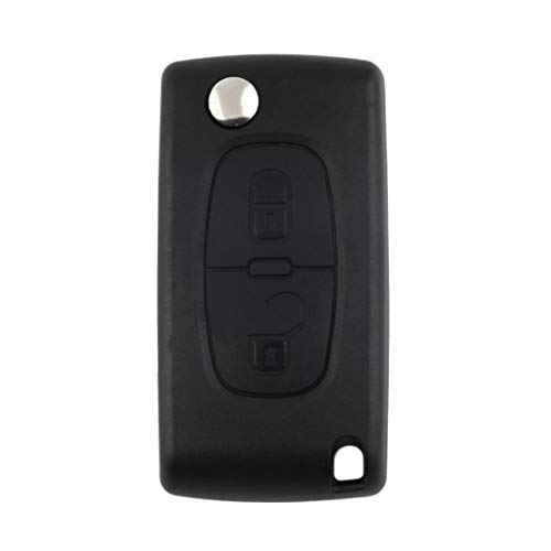 LouiseEvel215 Uncut Blade Car Case Ersatzschlüssel Shell Key Protection Cover Flip Remote Key für Peugeot 207 307 407 308 -