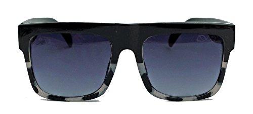 amashades Vintage Classics Herren Sonnenbrille im Designer Stil oversized Flat Top Modell SN26 (Grey Camo)