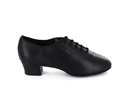 chaussures Homme latine/cuir noir/Doux chaussures de danse de fond/chaussures pour hommes professionnels A