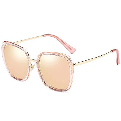 Thirteen Polarisierte Sonnenbrille Frauen Rundes Gesicht Bunte Sonnenbrille Frauen Uv-Schutz Ist Leicht Und Komfortabel, Geeignet Für Dekoration, Reise, Fahren Und Sonnenschirm. (Color : Pink)