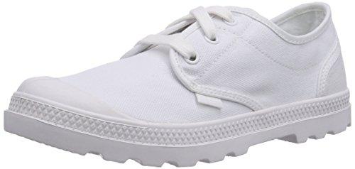 Palladium PAMPA OXFORD LP, Low-Top Sneaker donna, Bianco (Weiß (WHITE/WHITE 154)), 39.5
