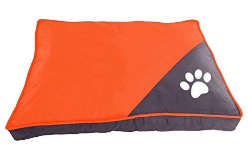 BPS Colchoneta Cuna para Perros Mascotas de Verano Cama Colchón Manta Sofá Suave con Material Tela Oxford Varios Colores y 2 Medidas para Elegir (M, Naranja) BPS-1596NA