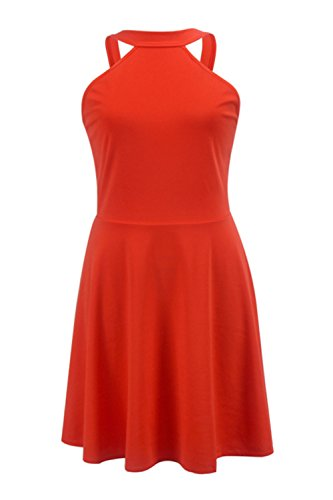 Halter Hollow des femmes Out Swing Party Dress red