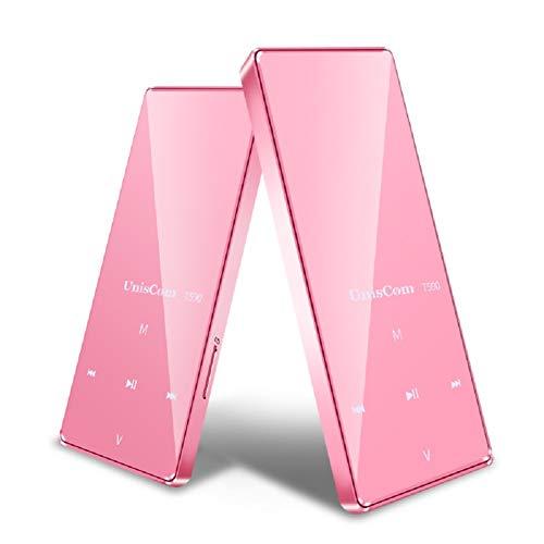 1,8-Zoll-Mini-Tragbarer, Verlustfreier MP3-Musik-Player Mit 8 G, Langlebiger, Zerstörungsfreier MP3 / MP4-Player Mit Langem Standby-Sport,Pink - Mit Bluetooth Mp3-player Sansa