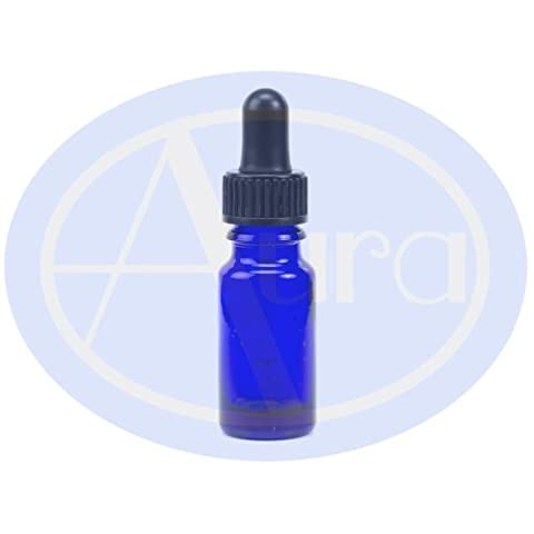 PACK of 5 - 10ml BLUE GLASS Bottles with GLASS Pipettes. Essential Oil / Aromatherapy Use