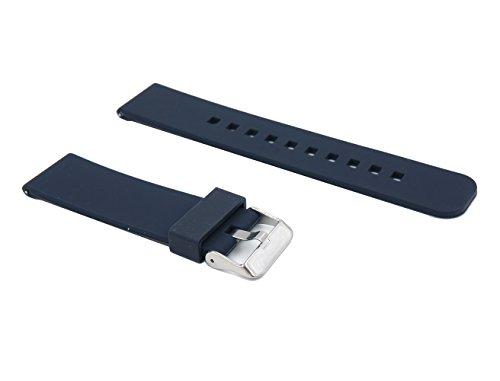22mm sport rilascio rapido Silicone Cinturino braccialetto Cinturino dell'orologio Per Pebble Time / Pebble Time Steel / Asus...
