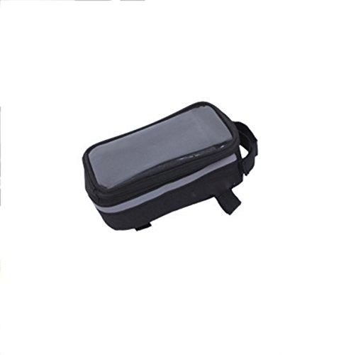 OGTOP Mountainbike Wasserdichte Touchscreen-Telefon Tasche Satteltasche Verpackungsanlagen Black
