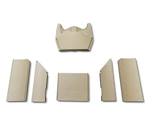 Feuerraumauskleidung für den Contura 520T Style Kaminofen - Vermiculite - 6-teilig