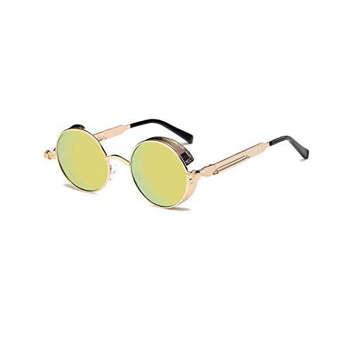 Sportbrillen, Angeln Golfbrille,Metal Round Steampunk Sunglasses Men Women Fashion Glasses Brand Designer Retro Frame Vintage Sunglasses High Quality UV400 3