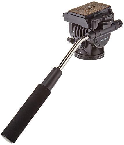 """Neewer Fluid Videokopf Videoneiger Stativkopf Kugelkopf mit Schnellwechselplatte für DSLR-Kameras mit 1/4\"""" Gewinde bis zu 4 kg, Stativ mit 3/8\"""" Gewinde"""