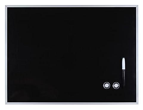 Magnet-Tafel schwarz oder weiß mit Aluminiumrahmen, 45 x 60 cm (schwarz)