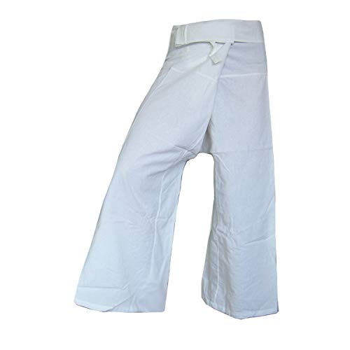 PANASIAM Thai Fisherman Pants, White, L