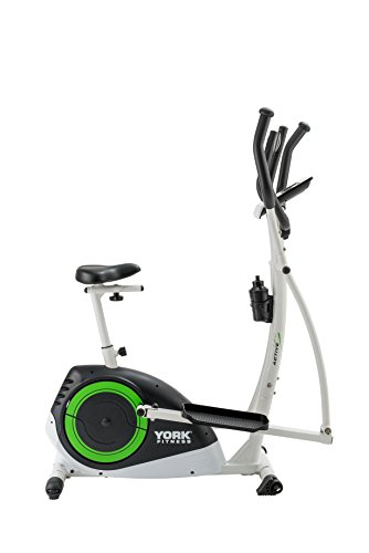 31VfR%2BmTfcL - York Fitness Active 120 2-in-1 Cycle Cross Trainer - Black